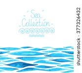 sea background made in vector.... | Shutterstock .eps vector #377326432
