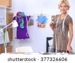 young fashion designer working... | Shutterstock . vector #377326606