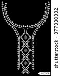 neck line embroidery designs | Shutterstock .eps vector #377330332