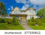 big custom made luxury house... | Shutterstock . vector #377330812