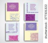 grunge vector brochure... | Shutterstock .eps vector #377331322