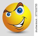 cunning emoji smiley emoticon | Shutterstock .eps vector #377333755