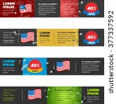 banners set with usa flag and... | Shutterstock .eps vector #377337592