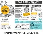 restaurant brochure vector ... | Shutterstock .eps vector #377339146