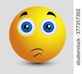 shocked smiley face | Shutterstock .eps vector #377357302