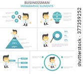 businessman infographic... | Shutterstock .eps vector #377359252