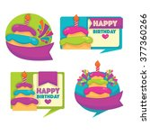 vector emblems and stickers... | Shutterstock .eps vector #377360266