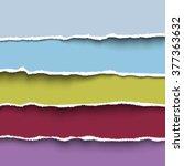colored paper headers. vector... | Shutterstock .eps vector #377363632