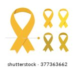 childhood cancer awareness... | Shutterstock .eps vector #377363662