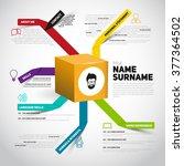 minimalist cv  resume template... | Shutterstock .eps vector #377364502