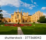 lednice chateau on summer day | Shutterstock . vector #377368042