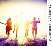 friendship freedom beach summer ... | Shutterstock . vector #377368462