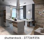 modern kitchen study  3d render | Shutterstock . vector #377369356