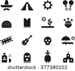 mexico icon set | Shutterstock .eps vector #377380102
