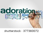 Small photo of Adoration word cloud concept with love adoring related tags