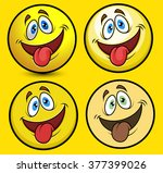 funny tongue out smiley | Shutterstock .eps vector #377399026