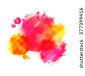 bright red and yellow vector... | Shutterstock .eps vector #377399416