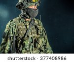 special force soldier   strike... | Shutterstock . vector #377408986