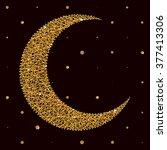 vector illustration with moon... | Shutterstock .eps vector #377413306