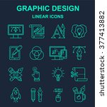 graphic design  bright linear... | Shutterstock .eps vector #377413882