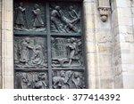 door of sacre coeur | Shutterstock . vector #377414392