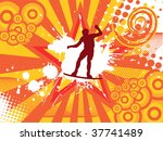wake boarder on abstract... | Shutterstock .eps vector #37741489