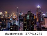 View of beautiful city, urban in the night.
