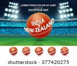 cricket sports concept with... | Shutterstock .eps vector #377420275
