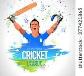 champions cricket league... | Shutterstock .eps vector #377421865