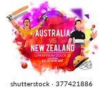 australia vs new zealand... | Shutterstock .eps vector #377421886
