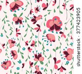vintage floral seamless pattern. | Shutterstock .eps vector #377423905