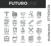 modern thin line icons set of... | Shutterstock .eps vector #377424136