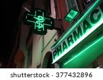 French Pharmacy Neon Green Sig...