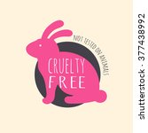 cruelty free bunny colorful...
