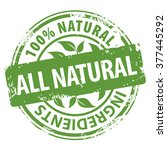 all natural organic ingredients ... | Shutterstock . vector #377445292