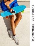 outdoor lifestyle portrait of... | Shutterstock . vector #377448646