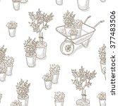 garden and farm wallpaper.  | Shutterstock .eps vector #377483506