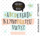 vector happy birthday card.... | Shutterstock .eps vector #377486695