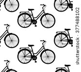 seamless pattern with bikes | Shutterstock .eps vector #377488102