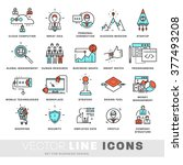thin line icons set. business... | Shutterstock .eps vector #377493208