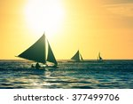 Silhouette Of Typical Sailing...