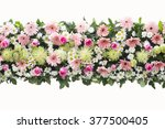 bunch flowers isolated on white ... | Shutterstock . vector #377500405