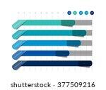flat chart  graph. simply blue... | Shutterstock .eps vector #377509216