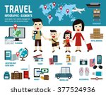 travel. infographic elements... | Shutterstock .eps vector #377524936