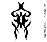 tribal tattoo vector design... | Shutterstock .eps vector #377533072