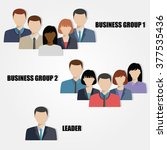 business people group human... | Shutterstock .eps vector #377535436