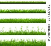 grass borders big set with... | Shutterstock .eps vector #377537152