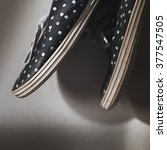 Polka Dot Sneakers Black And...