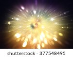 abstract gold background.... | Shutterstock . vector #377548495