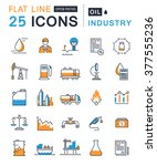 set vector line icons with open ... | Shutterstock .eps vector #377555236